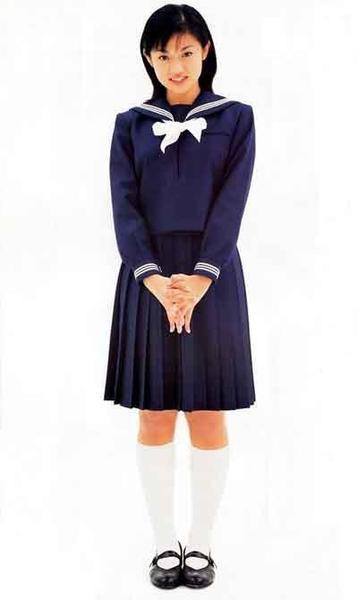 a girl in uniform