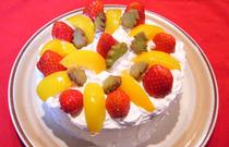 Japanese Christmas sponge cake