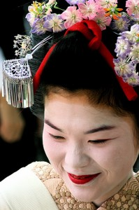 kyoto comb festival participant