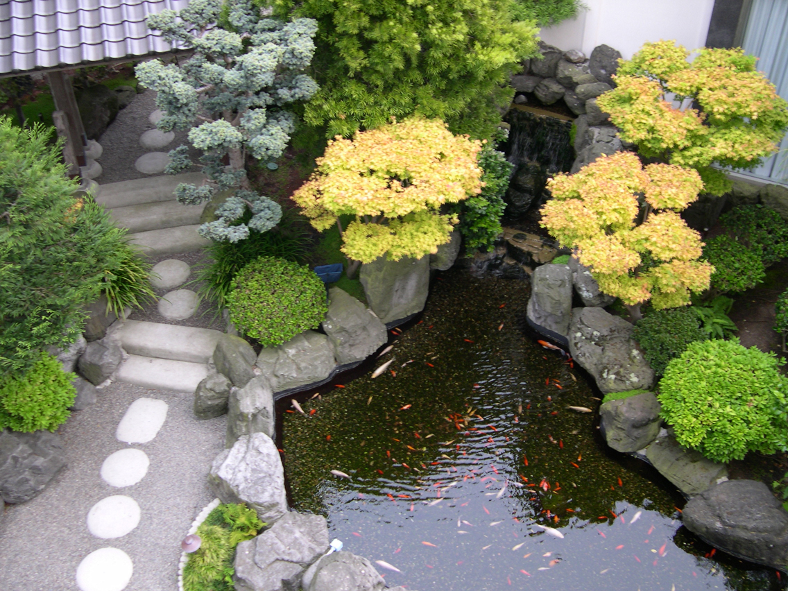 Famous japanese garden designs for Japanese garden pond design